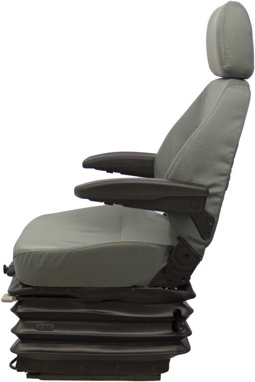 Caterpillar Excavator Seat & Air Suspension - Fits Various Models - Gray Cloth
