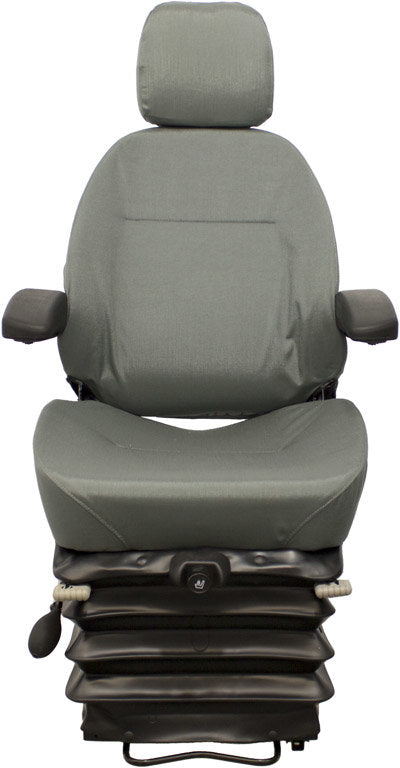 Terex Articulated Dump Truck Seat & Air Suspension - Fits Various Models - Gray Cloth