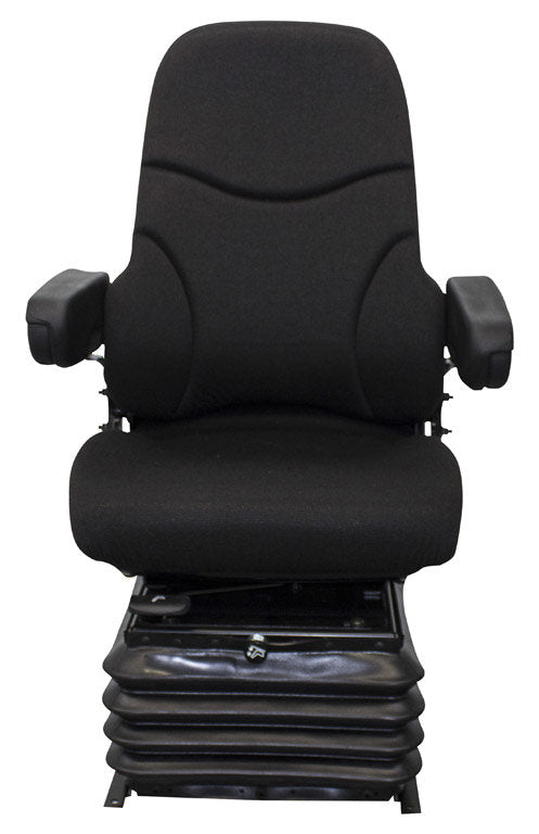 New Holland Wheel Loader Seat & Air Suspension - Fits Various Models - Gray Cloth