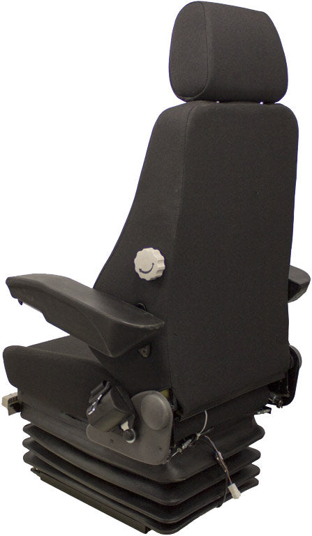 Volvo Wheel Loader Seat & Air Suspension - Fits Various Models - Black Cloth