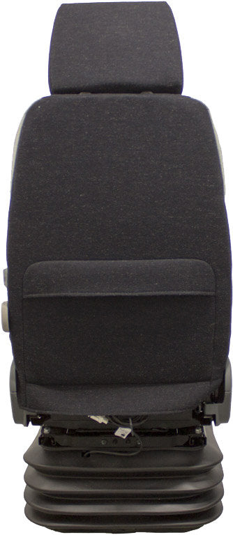 Case Excavator Seat & Air Suspension - Fits Various Models - Gray Cloth