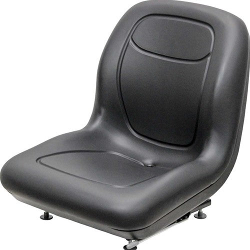 Bobcat Skid Steer Bucket Seat - Fits Various Models - Black Vinyl