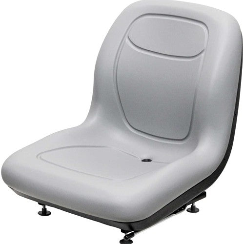 Gehl Skid Steer Bucket Seat - Fits Various Models - Gray Vinyl