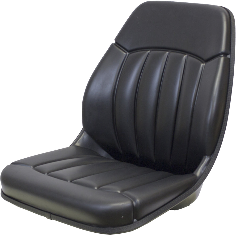 MASSEY FERGUSON FORKLIFT SEAT ASSEMBLY - FITS VARIOUS MODELS  - BLACK VINYL