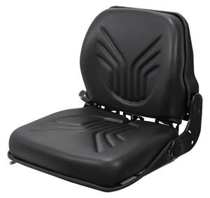 Takeuchi Excavator Seat & Semi-Suspension - Fits Various Models - Black Vinyl