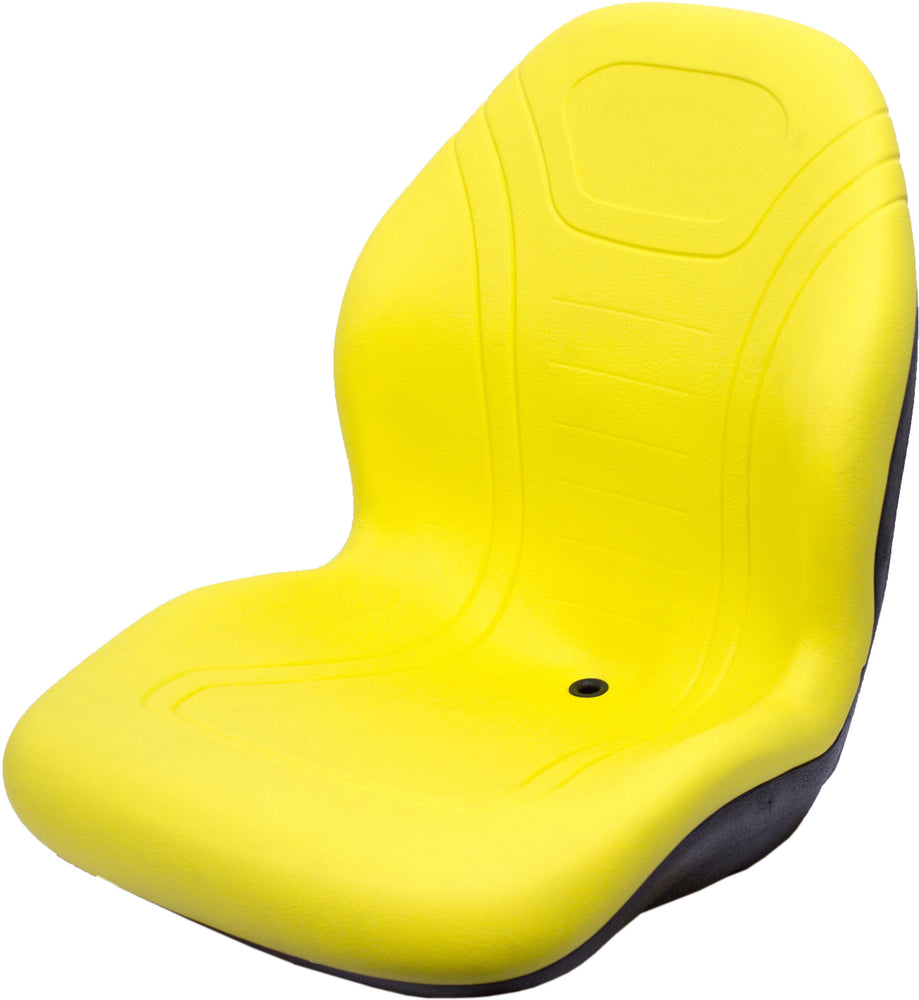 GEHL SKID STEER SEAT ASSEMBLY - FITS VARIOUS MODELS - YELLOW VINYL
