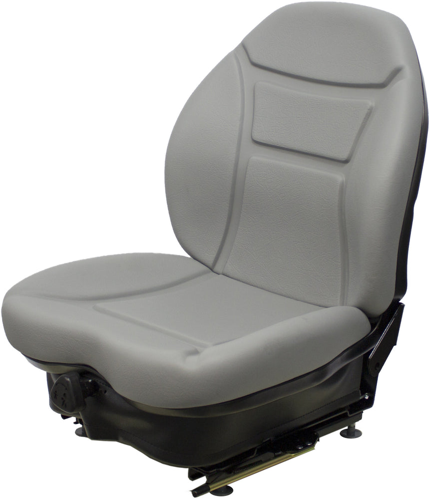 DAEWOO SKID STEER SEAT ASSEMBLY- FITS VARIOUS MODELS - GRAY VINYL - MECHANICAL SUSPENSION