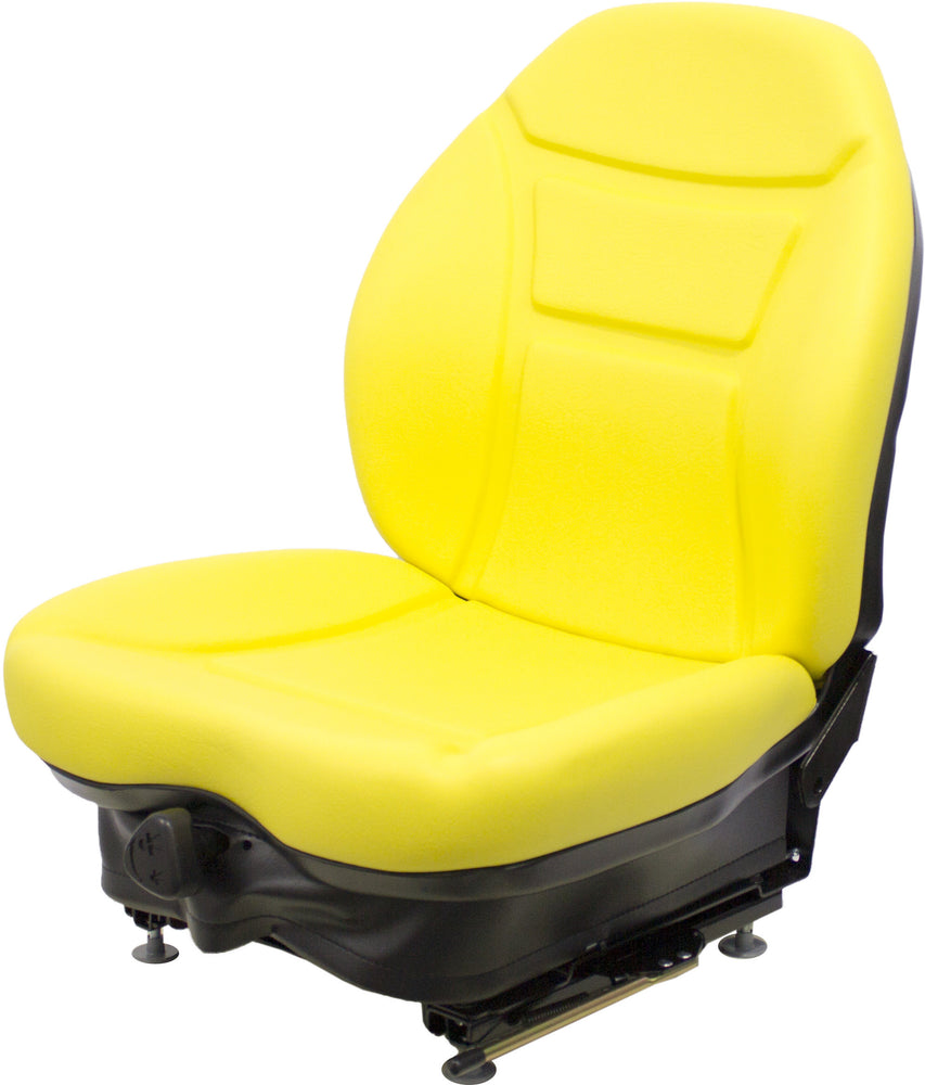 MUSTANG SKID STEER SEAT ASSEMBLY - FITS VARIOUS MODELS - YELLOW VINYL - MECHANICAL SUSPENSION