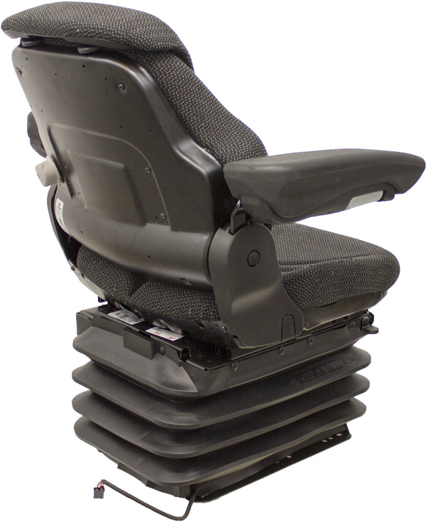 Case/Case IH Tractor Seat & Air Suspension - Fits Various Models - Black/Gray Cloth