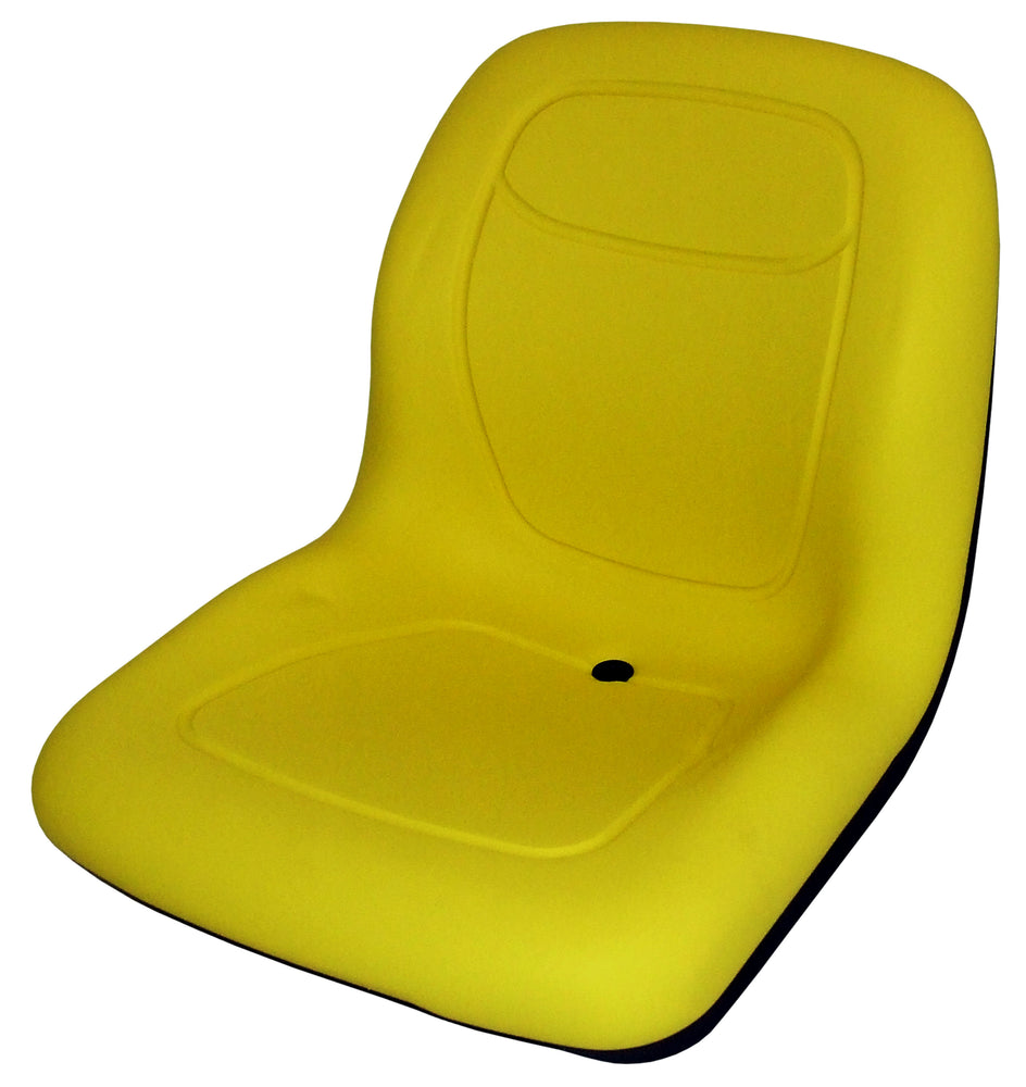 John Deere Lawn Mower Bucket Seat - Fits Various Models - Yellow Vinyl