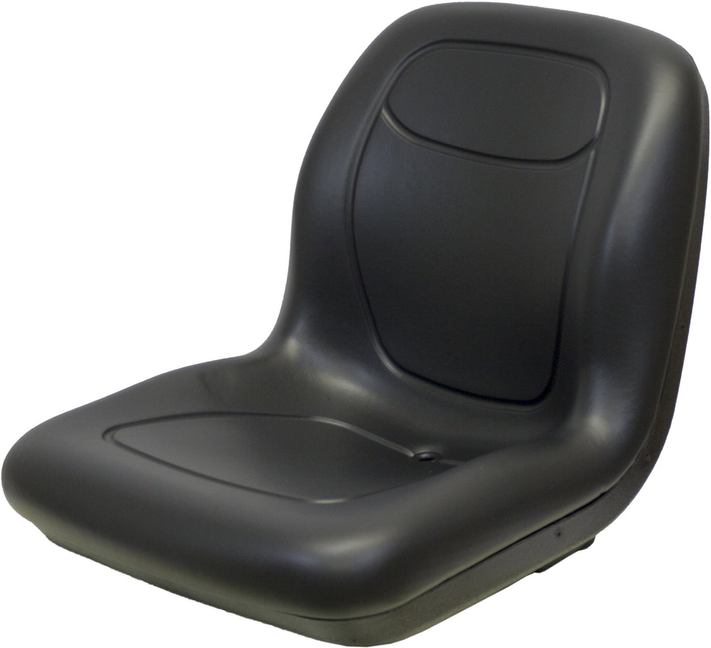 John Deere Skid Steer Bucket Seat - Fits Various Models - Black Vinyl