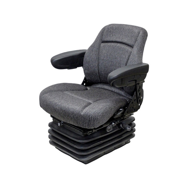 Ford/New Holland 70 Genesis Series/80 4WD Series Tractor Seat & Air Suspension - Fits Various Models - Gray Cloth