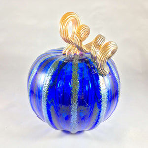Cobalt Blue Blown Pumpkin
