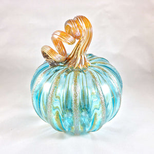 Light Blue Blown Pumpkin