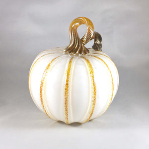 White Blown Pumpkin