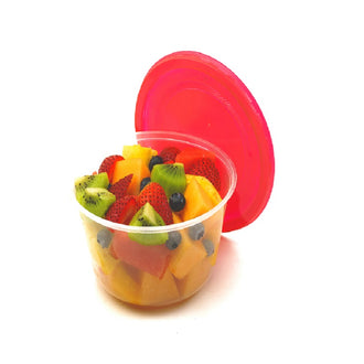 Assorted Cut Fruit in Bowl , 24'Oz , 6 fruits + 1 topping , 380g
