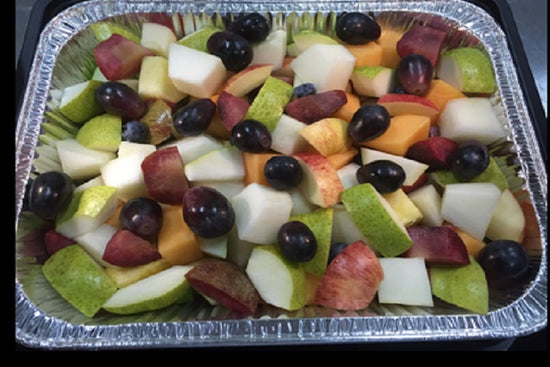 Fruits Salad , MIXED in Aluminium Tray   ( length: 50cm Width: 30cm)