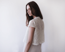 Load image into Gallery viewer, Short sleeves bridal lace and sequins bolero - Nomad Bridal
