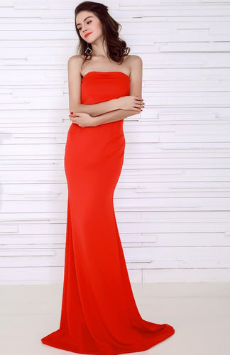 Red Strapless Gown - Nomad Bridal
