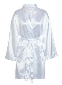 One Size fits most: Up to size 20 Women's Crepe Satin Robe - Nomad Bridal