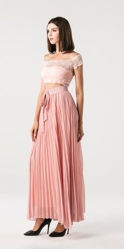 Two Piece Pink Dress - Nomad Bridal