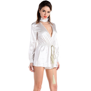 Plunge Sexy Short Playsuit - Nomad Bridal