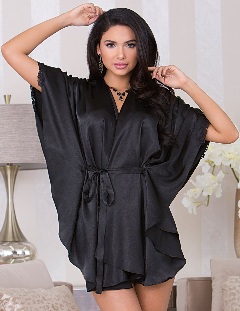 iCollection Batwing Sleeve Robe with Circle Hem - Nomad Bridal