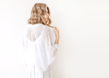 Load image into Gallery viewer, Ivory Lace Shrug, Bridal Cover Up