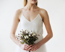 Load image into Gallery viewer, Ivory Sequin and Tulle Maxi Bridal Gown - Nomad Bridal