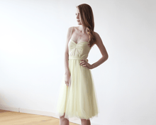 Load image into Gallery viewer, Pastel Yellow Ballerina Tulle Midi Dress