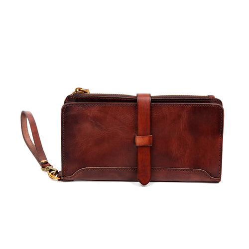 Casey Leather Clutch - Nomad Bridal
