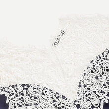 Load image into Gallery viewer, Navy Floral Lace Yoke Dress - Nomad Bridal