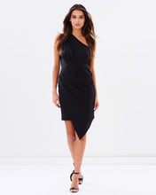 Load image into Gallery viewer, One Shoulder Asymmetrical Dress - Black - Nomad Bridal