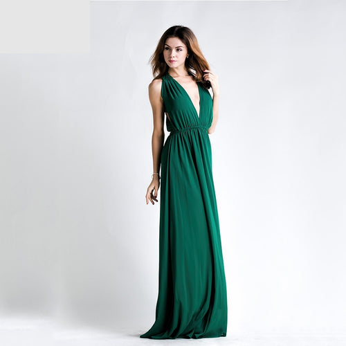 Plunge Green Gown - Nomad Bridal