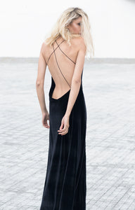 Bareback velvet dress - Nomad Bridal