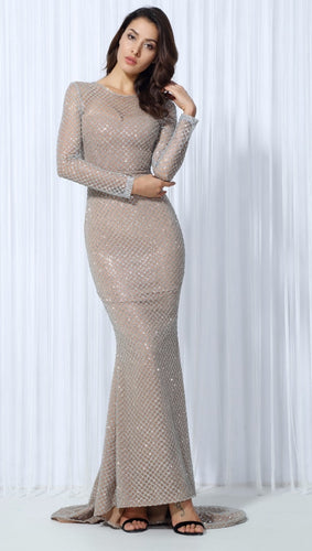 Silver Lattice Evening Dress - Nomad Bridal