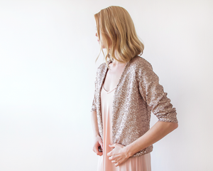 Sequin Pink jacket with long sleeves