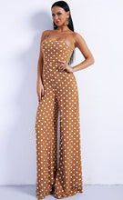 Load image into Gallery viewer, Tan Polka Dot Jumpsuit - Nomad Bridal