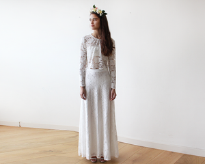 Bridal Ivory Lace Maxi Skirt - Nomad Bridal