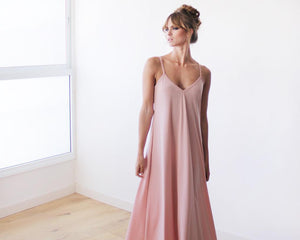 Pink Blush Basic Straps Maxi Dress - Nomad Bridal