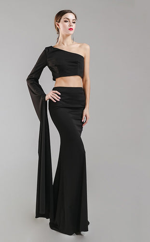 Black 2 Piece Gown - Nomad Bridal