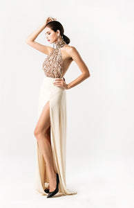 Sequin Halter Gown - Nomad Bridal