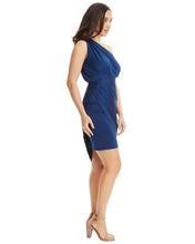 Load image into Gallery viewer, One Shoulder Asymmetrical Dress - Dark Blue