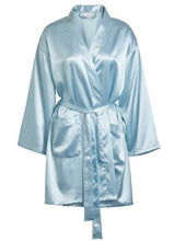 Load image into Gallery viewer, One Size fits most: Up to size 20 Women's Crepe Satin Robe - Nomad Bridal