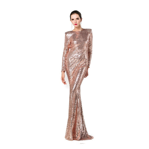 Gold Sequin Ball Gown - Nomad Bridal