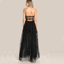 Load image into Gallery viewer, Mesh Overlay Strapless Sheer Cut Out Dress - Nomad Bridal