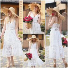 Load image into Gallery viewer, Strap backless lace dress - Nomad Bridal
