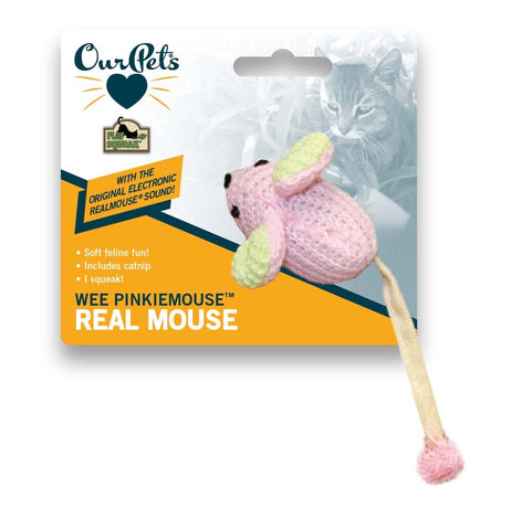 OURPETS WEE PINKIE MOUSE KITTEN CAT TOY