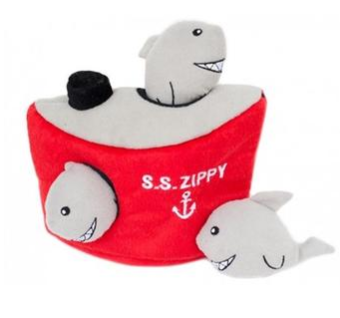 ZippyPaws Burrow Dog Toy - Shark 'n Ship