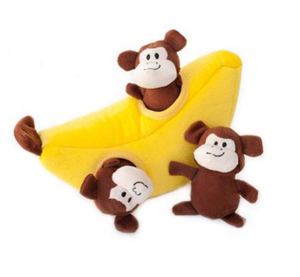 ZippyPaws Burrow Dog Toy - Monkey 'n Banana